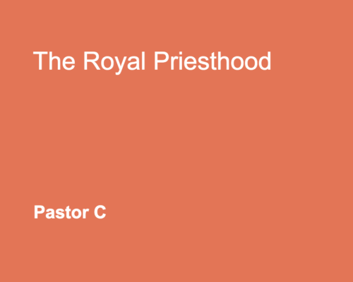 This Royal Priesthood