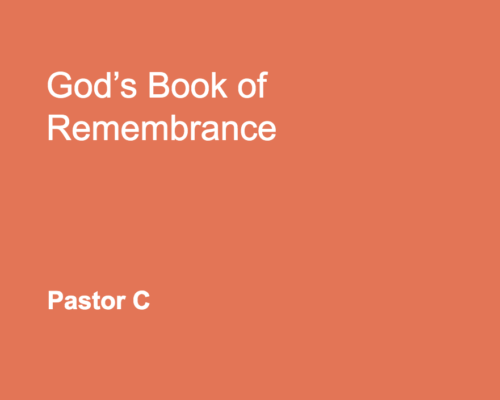 God's Book Of Remembrance