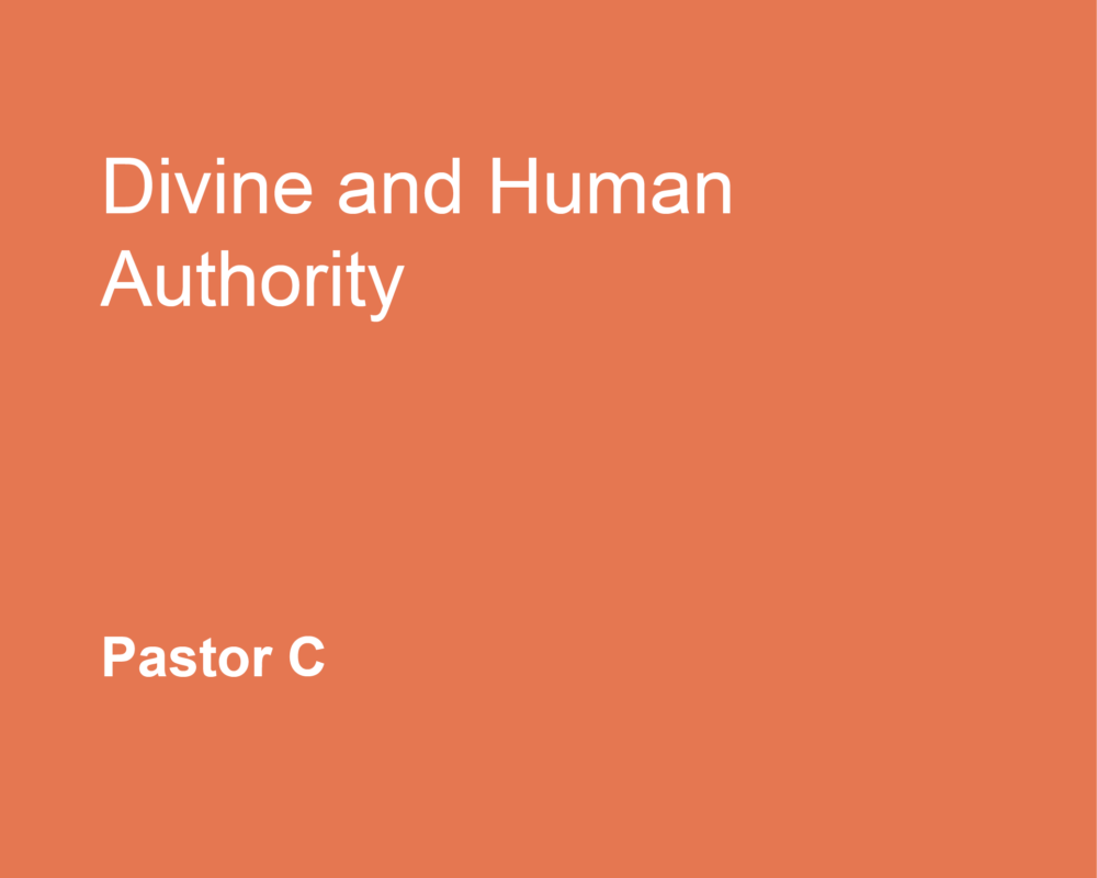 Divine and Human Authority