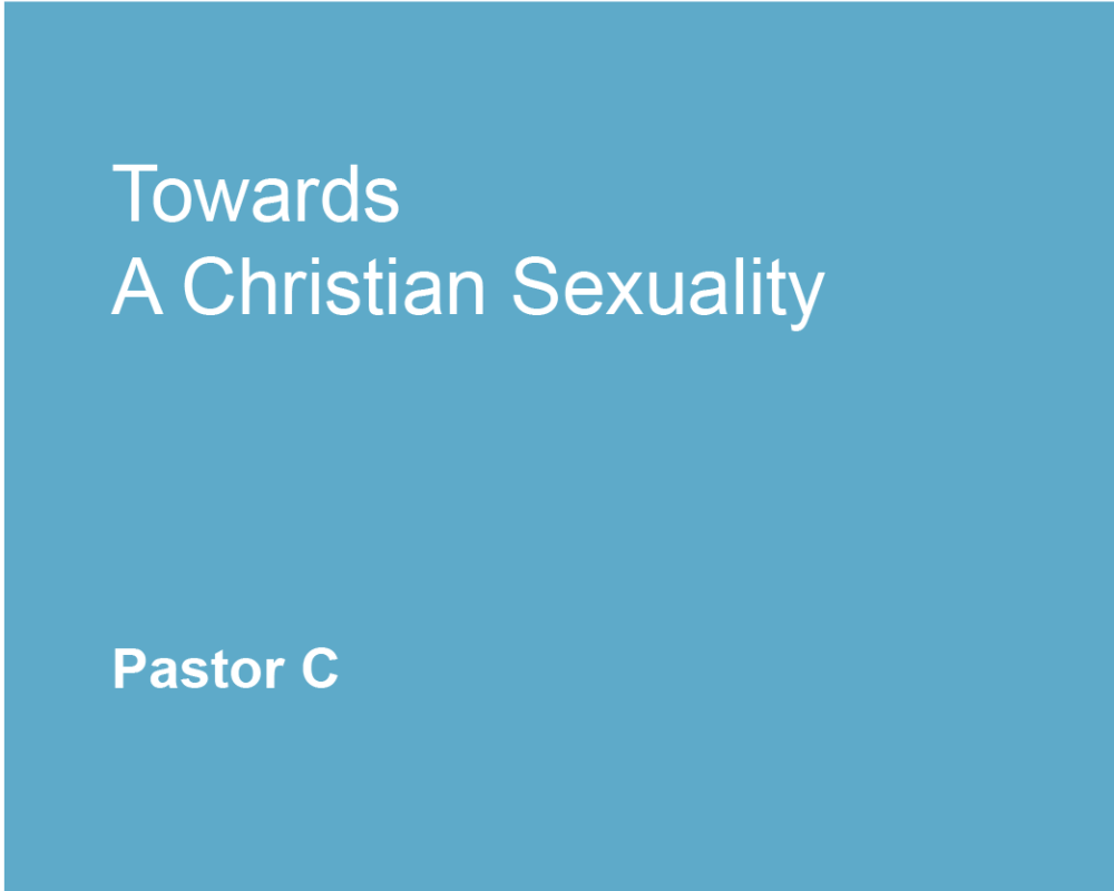 Toward a Christian Sexuality