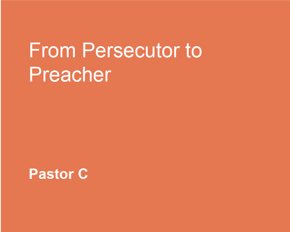 From Persecutor to Preacher